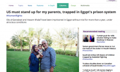 MiddleEastEye: US Must Stand Up for my Parents, Trapped in Egypt's Prison System